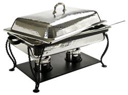 Where to find CHAFER - 8 QT RECTANGLE SS HAMMERED in Danville